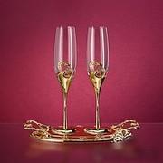 Свадебные Бокалы под Шампанское со стразами Swarovski