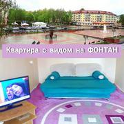 1к квартира на сутки ЦЕНТР ПОЛОЦКА с видом на фонтан и гостиницу Двина